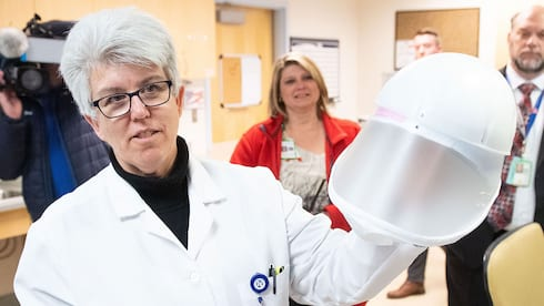Theresa Haley '86 Prepares and Protects VA Hospital banner image