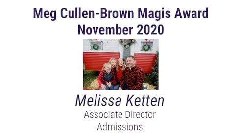 November Meg Cullen-Brown Magis Award banner image