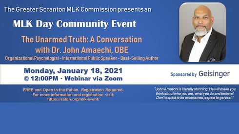 MLK Day Event with Dr. John Amaechi, OBE banner image