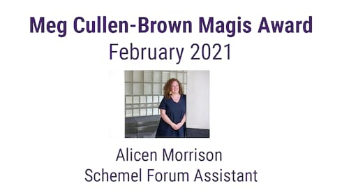 Magis Award Winner for February 2021 banner image