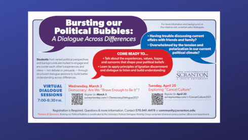 Two Nonpartisan Student Political Dialogues Planned for Spring Semester banner image