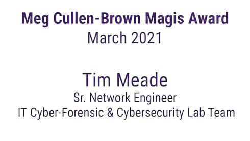 Announcing the March 2021 Meg Cullen Brown Magis Award Winner! banner image