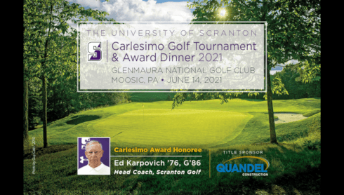 University To Hold Carlesimo Golf Tournament And Award Dinner June 14 banner image