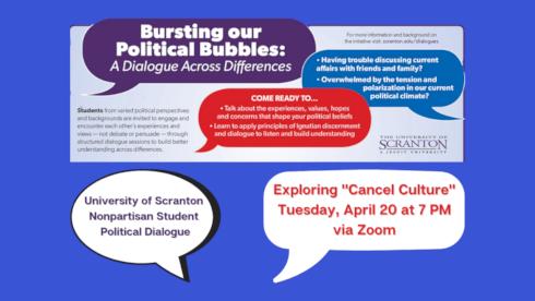 Nonpartisan Student Political Dialogue to Explore 'Cancel Culture' banner image
