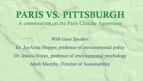 Paris v. Pittsburgh: A Conversation on the Paris Climate Agreement banner image