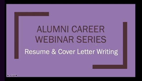 University Continues Alumni Career Development Webinar Series April 28 banner image