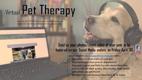 Virtual Pet Therapy, April 30 banner image