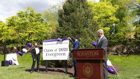 Class of 2021 Evergreen Dedicated at Scranton banner image