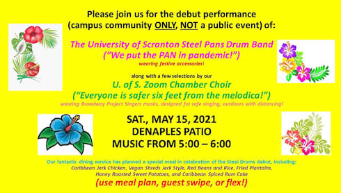 Campus Community Invited: Steel Pans Drum Band Debut Performance banner image