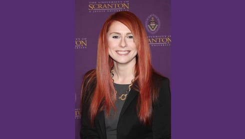 Faculty Member Ashley Stampone Nationally Feted banner image