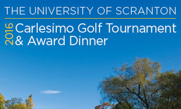 Save the Date, Carlesimo Golf Tournament and Award Dinner
