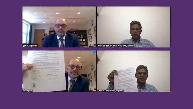 Agreement with Indian Institute of Management Signed banner image