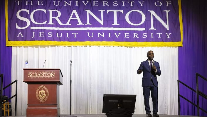 Alumnus Gives Ignatian Values In Action Lecture banner image