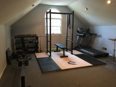 DIY Weightlifting Platform with Squat Stand Attached Cover Image