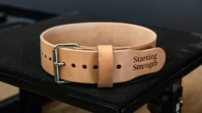 Dominion Starting Strength Leather Weightlifting Belt Review: Minimal, Effective, Great Looking Belt Cover Image