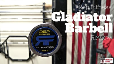 Rep Fitness Gladiator Olympic Bearing Bar Review Cover Image