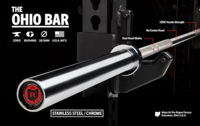 First Look: Rogue Fitness Stainless Steel Ohio Bar Cover Image