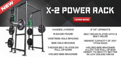 Titan Fitness Releases 9-Gauge X-2 Power Rack Cover Image
