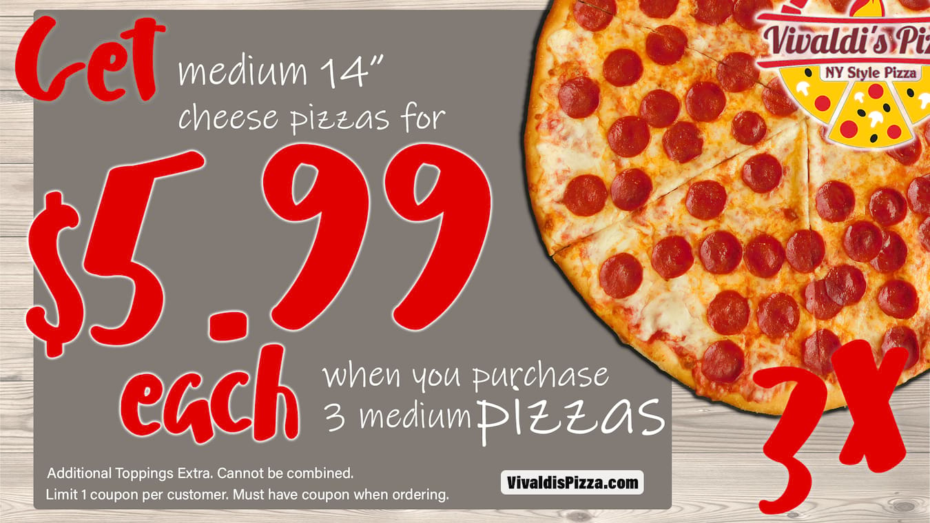 Vivaldi's Pizza deals and offers