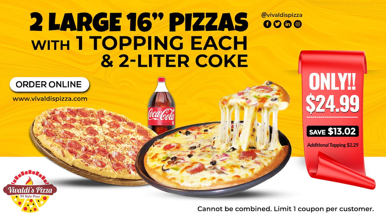 Order pizza, burger, wings, pasta, sandwiches & more online for pickup, dine-in or delivery. Check our coupons/offers.