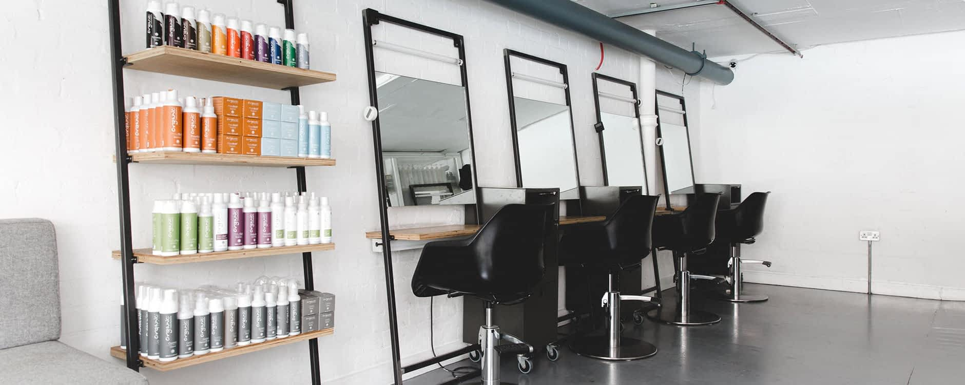Glasshouse Salon, Netil House, Hackney, East London. Organic hair care