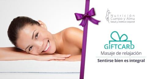 Giftcard Masaje de relajación - Mujer