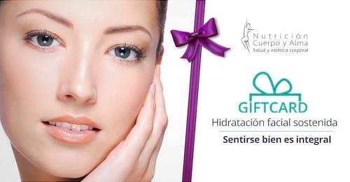 Giftcard Hidratación facial sostenida