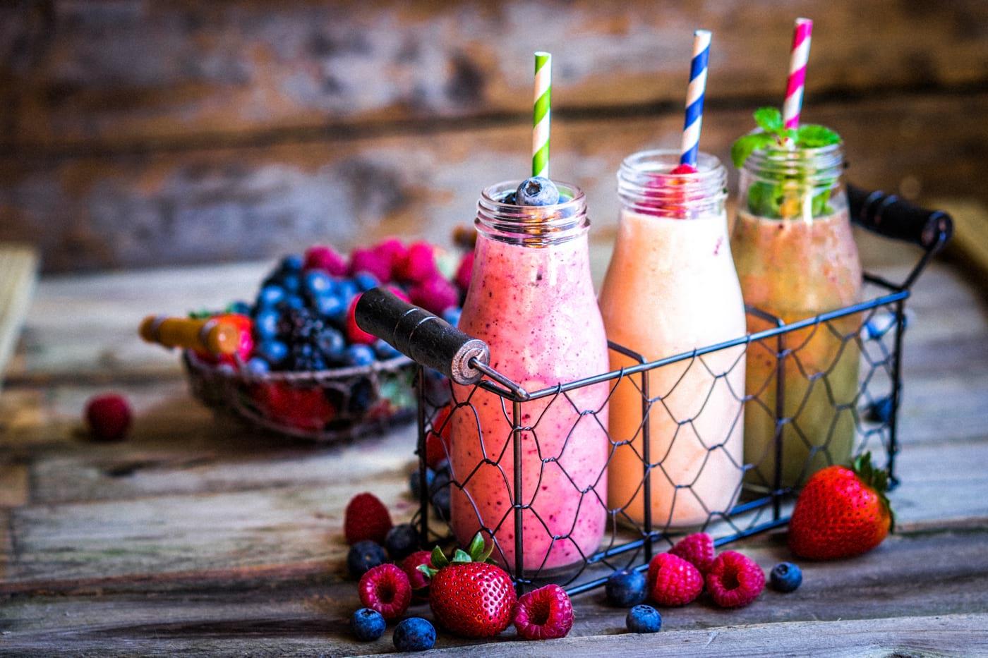 Smoothie și sorbeto simplu de fructe