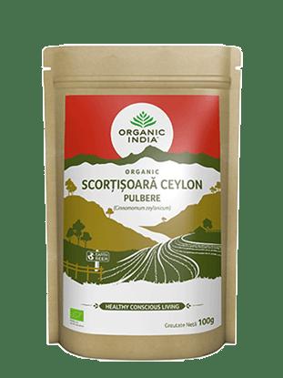 Imagine Scorțișoară Ceylon Pulbere 100% Certificată Organic 100g