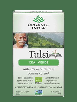 Imagine Ceai Tulsi Ceai Verde 100% Certificat Organic