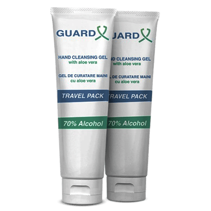 Imagine Pachet 2 x  GUARD X Uno Travel Pack ,Gel de curățare maini