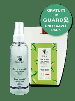 Imagine Pachet Săculeți pentru baie cu ceai verde și tărâțe de orez + Deodorant Organo-Cosmetic