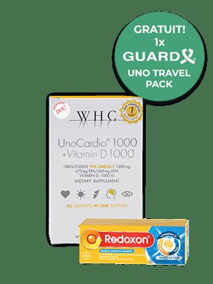 Imagine Pachet WHC-UNO CARDIO 1000 + VIT D + REDOXON Triple Action
