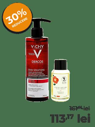 Imagine Pachet Ulei Camellia oleifera Bio Bijin + Vichy Dercos Densi-Solutions - Șampon redensificator