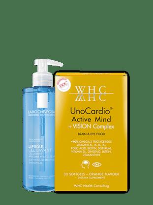 Imagine Pachet Lipikar gel de curățare + WHC-UNOCARDIO ACTIVE MIND