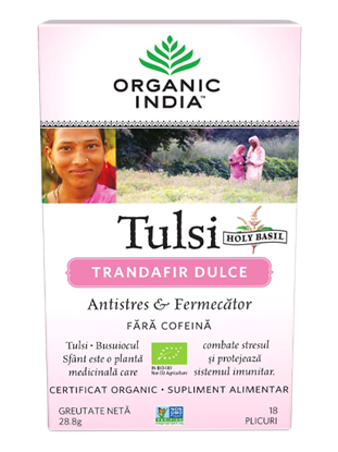 Imagine ORGANIC INDIA Ceai Tulsi | Trandafir Dulce