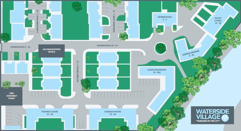 Waterside Student Village Map